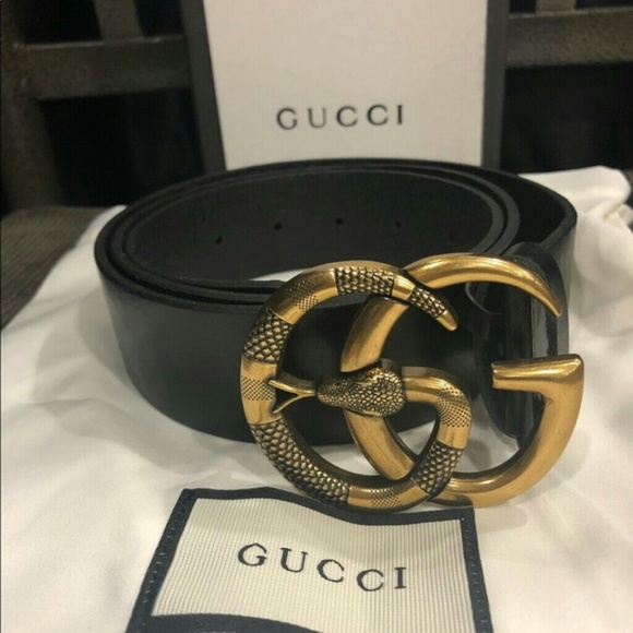 5ddcabb2ea1 Gucci belt gold snake buckle